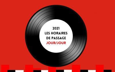 LES HORAIRES JOUR/JOUR